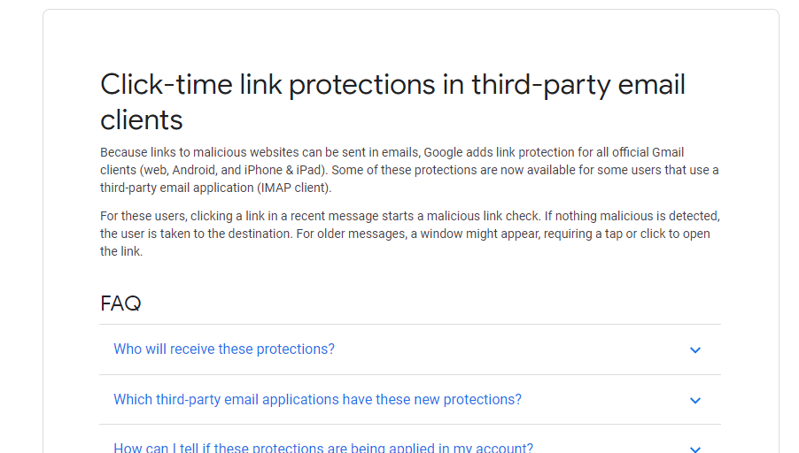 Gmail Security - Google modifying links in Gmail raising security concerns